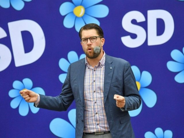 Sweden Democrats leader Jimmie Akesson is trying to create a softer image for his party