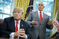 Vice President Mike Pence is among the top US officials who have denied being behind an explosive op-ed targeting Donald Trump