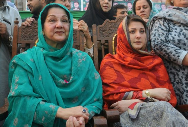Kulsoom Nawaz (L), who was first lady of Pakistan three times, was diagnosed with lymphoma in August last year and had been receiving treatment at a private hospital in London for months