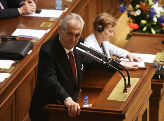"Czech President Milos Zeman, pictured July 2018, released a joint statement with other Czech political leaders saying the opening of a ""Czech House"" in Jerusalem would be ""the first step in the plan to move the Czech embassy"" there"