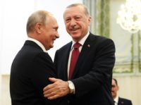 Turkey says Erdogan will meet Putin on Monday for Syria talks