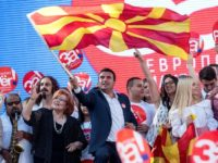 Macedonian Prime Minister Zoran Zaev (C) struck the name-change deal with Greece