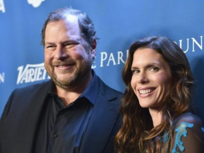 Marc and Lynne Benioff, pictured in 2016, will buy US magazine Time for $190 million