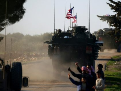 US forces near the village of Yalanli, on the western outskirts of the northern Syrian city of Manbij last year