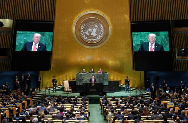 Trump brings rare laughter to august UN summit