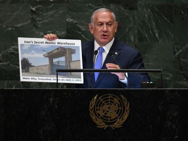 Israel PM lashes Iran, claims secret atomic warehouse