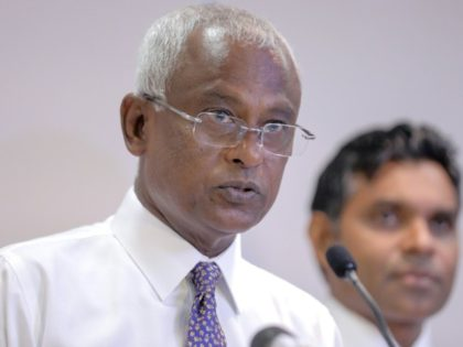 Common opposition candidate Ibrahim Mohamed Solih won last week's election with 58.4 percent of the ballot, or 134,705 votes