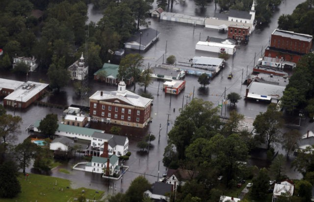 Hurricane Florence cuts off road access to N. Carolina city