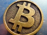 A physical representation of a Bitcoin.