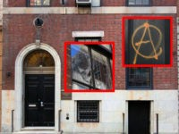 Vandals Smash Windows, Deface Doors of Metropolitan Republican Club