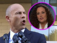 (INSET: JULIE SWETNICK) Michael Avenatti, attorney for porn actress Stormy Daniels, talks to reporters after a federal court hearing in Los Angeles, Monday, Sept. 24, 2018. Judge S. James Otero appears poised to toss out a defamation lawsuit against President Donald Trump by Daniels, whose real name is Stephanie Clifford. …