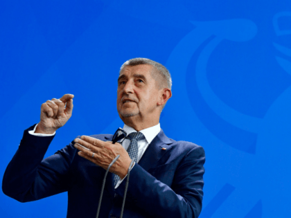 Czech Prime Minister Andrej Babis attends a joint press conference with the German Chancellor after talks at the chancellery in Berlin, on September 5, 2018. (Photo by John MACDOUGALL / AFP) (Photo credit should read JOHN MACDOUGALL/AFP/Getty Images)
