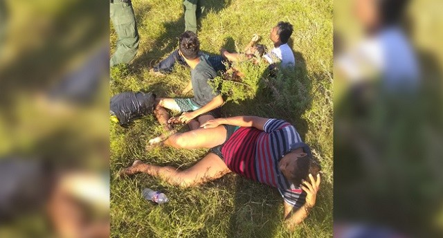 Four Bangladeshi nationals rescued from Rio Grande by Laredo Sector Border Patrol agents. (Photo: U.S. Border Patrol/Laredo Sector)