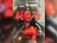 Laredo Sector Border Patrol agents rescue four Bangladeshi migrants from the Rio Grande. (Photo: U.S. Border Patrol/Laredo Sector)