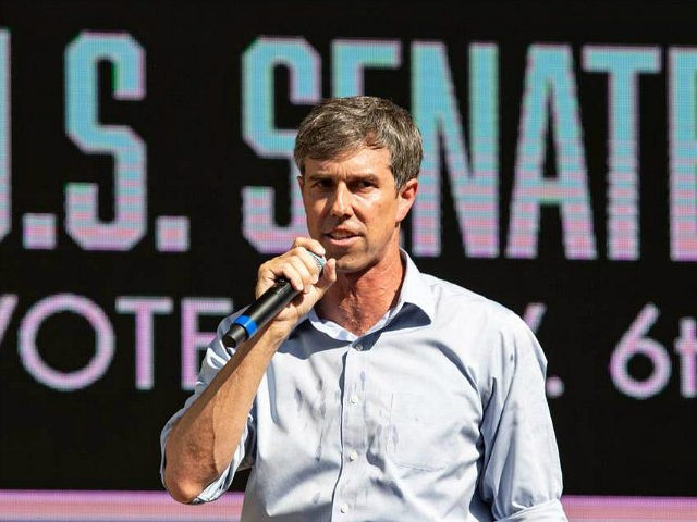 US Representative Beto O'Rourke (D-TX) speaks during a campaign rally in Plano, Texas, on September 15, 2018. - O'Rourke is the Democratic challenger for the Senate seat currently held by Senator Ted Cruz (R-TX). (Photo by Laura Buckman / AFP) (Photo credit should read LAURA BUCKMAN/AFP/Getty Images)