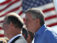 New York City Mayor Bill de Blasio joins other mayors with the U.S. Conference of Mayors at the Tornillo-Guadalupe port of entry to call for the immediate reunification of separated immigrant families on June 21, 2018 in Fabens, Texas. The Trump administration built a tent facility next to the Tornillo-Guadalupe …