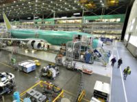 Boeing planes sit on the assembly line at the company's 737 plant in Renton, Wash.