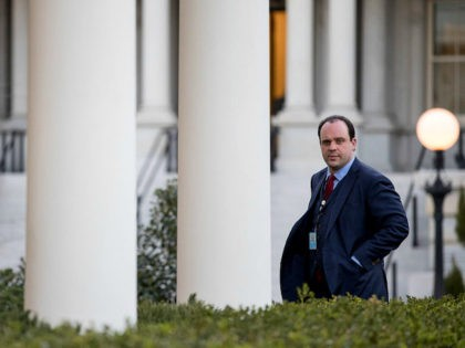 Boris Epshteyn, special assistant to President Donald Trump, walks into the West Wing of the White House, Wednesday, March 8, 2017, in Washington. (AP Photo/Andrew Harnik)