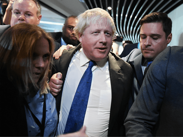 BIRMINGHAM, ENGLAND - OCTOBER 02: Boris Johnson arrives before speaking at a Conservative home fringe meeting on day three of the Conservative Party Conference on October 2, 2018 in Birmingham, England. The former Foreign Secretary makes his Brexit speech to the Conservative Home fringe meeting audience today. This is seen …