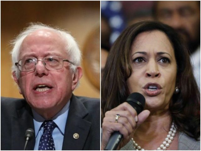 Combo photo of Bernie Sanders and Kamala Harris-AP/Getty