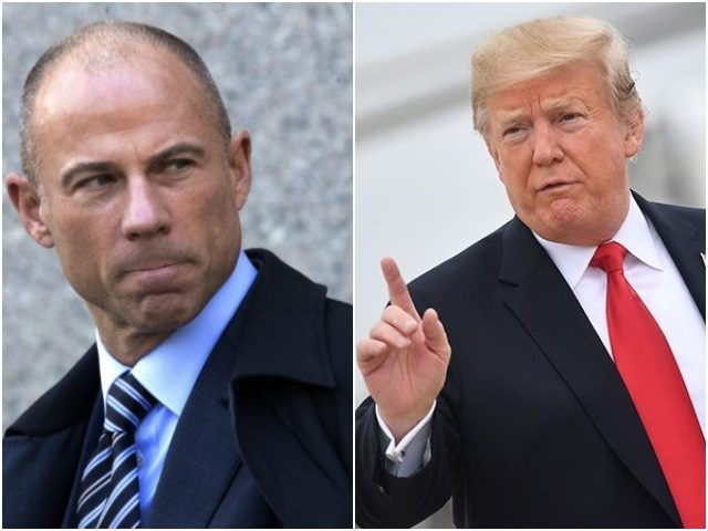 Combo photo of Michael Avenatti and Donald Trump