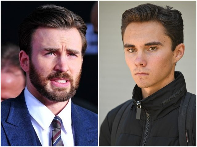 Combo photo of Chris Evans and David Hogg