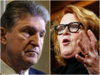 Combo photo of Sens. Joe Manchin and Heidi Heitkamp
