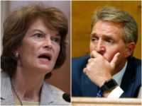 Combo photo of Lisa Murkowski and Jeff Flake