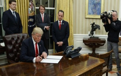 Trump Signs Healthcare Order