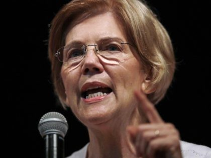 Elizabeth Warren pointing (Charles Krupa / Associated Press)