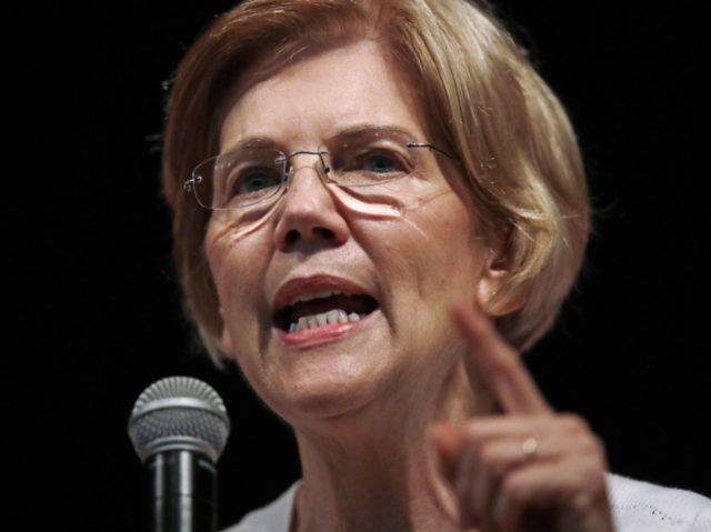 Elizabeth Warren pointing (Charles Krupa / Associated Press)