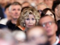 LYON, FRANCE - OCTOBER 21: Jane Fonda cries with emotion as she attends closing ceremony At 10th Film Festival Lumiere on October 21, 2018 in Lyon, France. (Photo by Sylvain Lefevre/Getty Images)