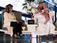 Saudi Crown Prince Mohammed bin Salman (R) and US journalist Maria Bartiromo attend the Future Investment Initiative (FII) conference in Riyadh, on October 24, 2017. The Crown Prince pledged a 'moderate, open' Saudi Arabia, breaking with ultra-conservative clerics in favour of an image catering to foreign investors and Saudi youth. …