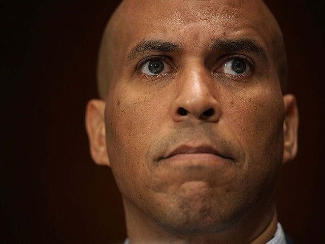 WASHINGTON, DC - SEPTEMBER 13: U.S. Sen. Cory Booker (D-NJ) listens during a markup hearing before the Senate Judiciary Committee September 13, 2018 on Capitol Hill in Washington, DC. A request during the hearing by the Democrats to subpoena documents on Supreme Court nominee Brett KavanaughÕs job as staff secretary …