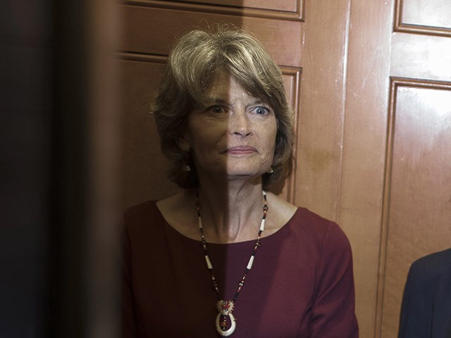 WASHINGTON, DC - OCTOBER 02: Sen. Lisa Murkowski (R-AK) (L) and Sen. Susan Collins (R-ME) share an elevator as they head for the weekly Senate Republican policy luncheon at the U.S. Capitol October 02, 2018 in Washington, DC. Senate GOP leaders agreed last week with the Judiciary Committee to allow …