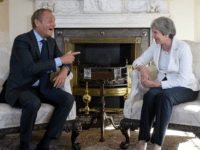 Theresa May and Donald Tusk Brexit