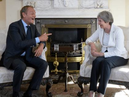 Theresa May and Donald Tusk Brexit