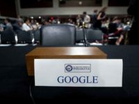 Google Empty Chair at Senate