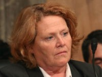 Sen. Heidi Heitkamp (D-ND), listens to testimony during a Senate Homeland Security and Governmental Affairs Committee hearing on Capitol Hill, June 21, 2016 in Washington, DC. The committee heard testimony on 'The Ideology of ISIS,' and examining ISIS ideology and how it relates to the most recent terror attack in …