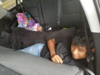 Laredo Sector Border Patrol agents find three illegal aliens hiding in a Chevy Suburban. (Photo: U.S. Border Patrol/Laredo Sector)