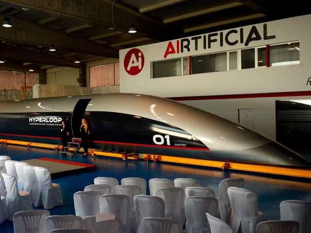 Elon Musk's Hyperloop Transportation Technologies unveiled its Hyperloop Capsule