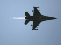 An F16 warplane takes off for a mission in Lebanon from Ramat David air force base on July 12, 2006, Ramat David, Israel. An assault on Southern Lebanon was launched by Israel following the capture of two Israeli soldiers. (Photo by Uriel Sinai/Getty Images)