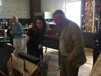 Dana Rohrabacher at Marijuana dispensary (Joel Pollak / Breitbart News)