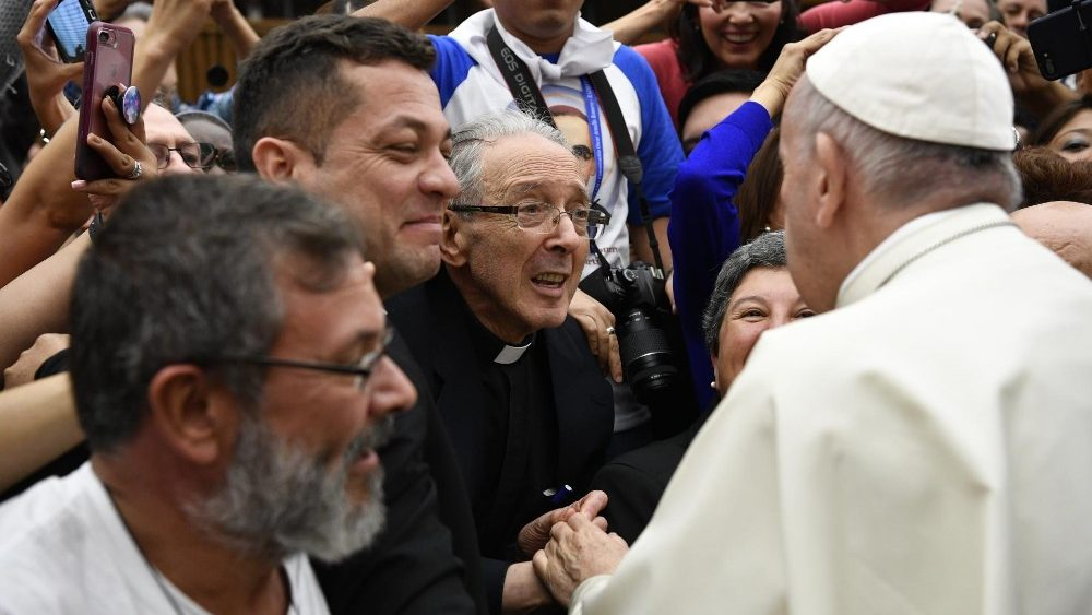 Jesuit Father Jon Sobrino and Pope Francis