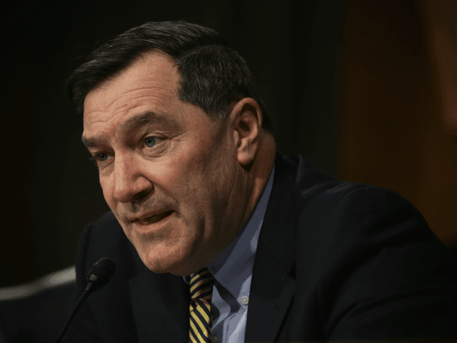 U.S. Sen. Joe Donnelly (D-IN) speaks during a hearing before the Senate Banking, Housing and Urban Affairs Committee February 24, 2015 on Capitol Hill in Washington, DC. Federal Reserve Board Chair Janet Yellen testified and gave the Federal Reserve semiannual monetary policy report to the Congress. (Photo by Alex Wong/Getty …