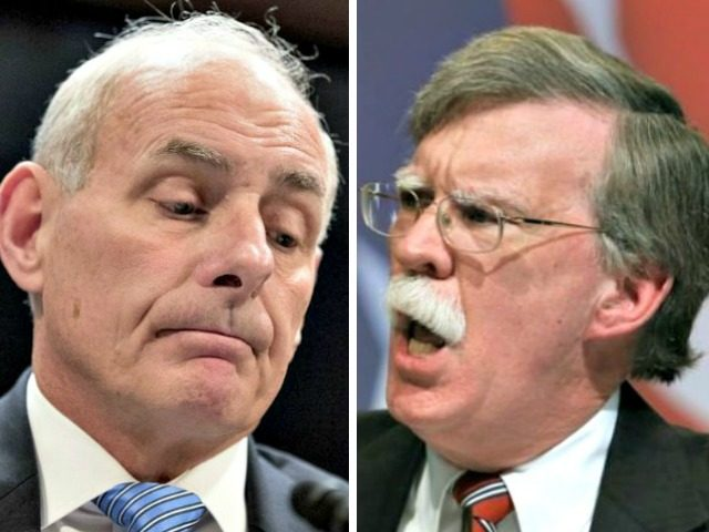 John Kelly and John Bolton have shouting match over immigration