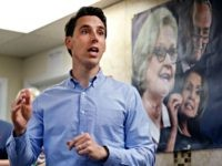 Missouri Attorney General and Republican U.S. Senate candidate Josh Hawley speaks to supporters during a campaign stop Thursday, Sept. 27, 2018, in St. Charles, Mo. Hawley is seeking to unseat Democratic incumbent Sen. Claire McCaskill.