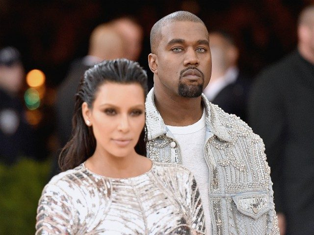 NEW YORK, NY - MAY 02: Kim Kardashian (L) and Kanye West attend the 'Manus x Machina: Fashion In An Age Of Technology' Costume Institute Gala at Metropolitan Museum of Art on May 2, 2016 in New York City. (Photo by Mike Coppola/Getty Images for People.com)