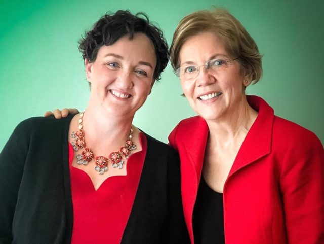 Katie Porter and Elizabeth Warren (Facebook)