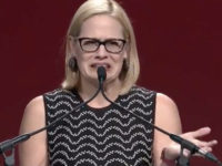 A video from early 2018 shows Democrat Senate candidate Kyrsten Sinema dramatically cringing about Arizona in a speech in which she talks about running for state elected office.